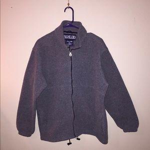 Lands End women's sz Lg grey zip jacket w/pockets